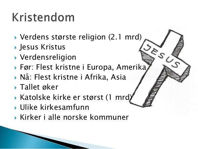 norge kristendom Kongsberg