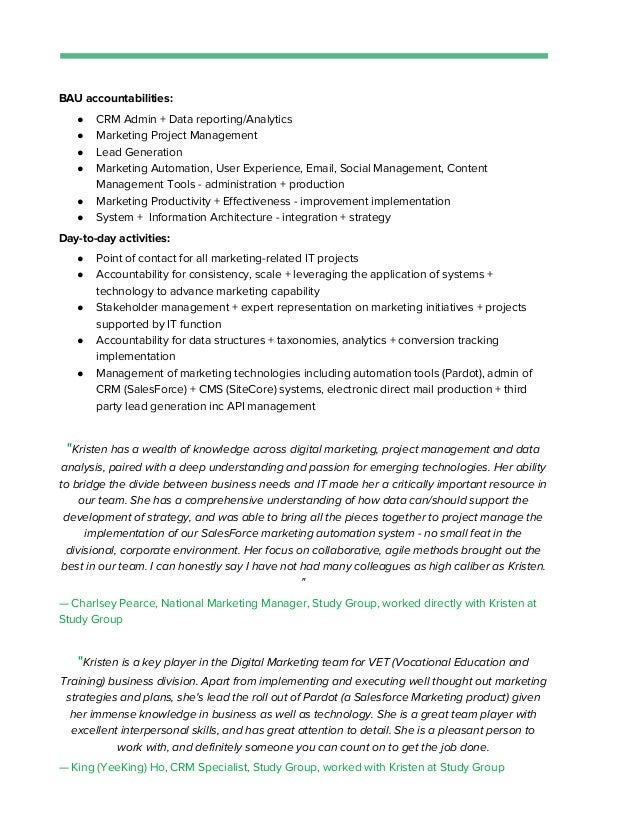 Sitecore Project Manager Resume