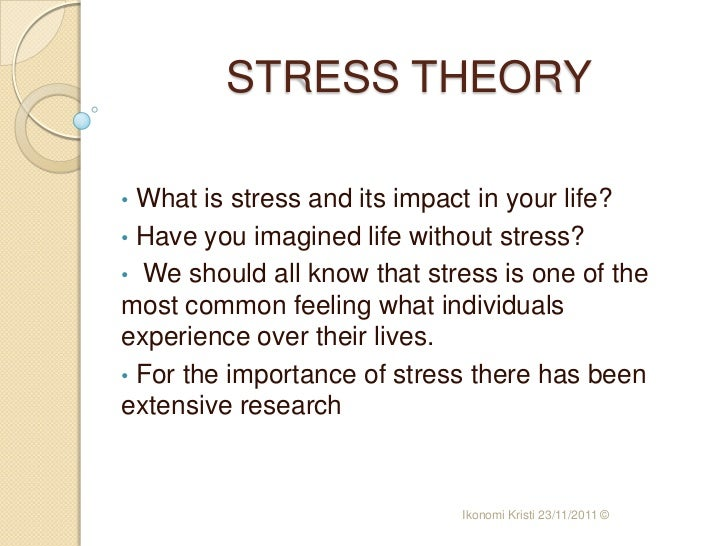 theories of stress and its relationship to health