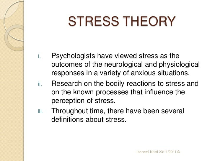 selyes stress theory Hans selye's general adaptation syndrome share pin +1 tweet no reference to allergy and environmental medicine could be complete without some reference to hans selye's hypothesis of stress adaptation the fact that so much experience matches the theory suggests that it is 'true.