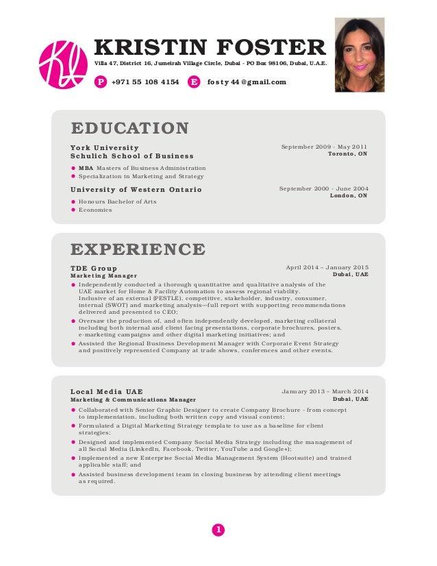 Kristin Foster CV