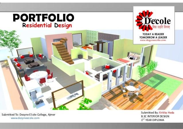Kritika Heda B Sc Interior Design Residential Portfolio