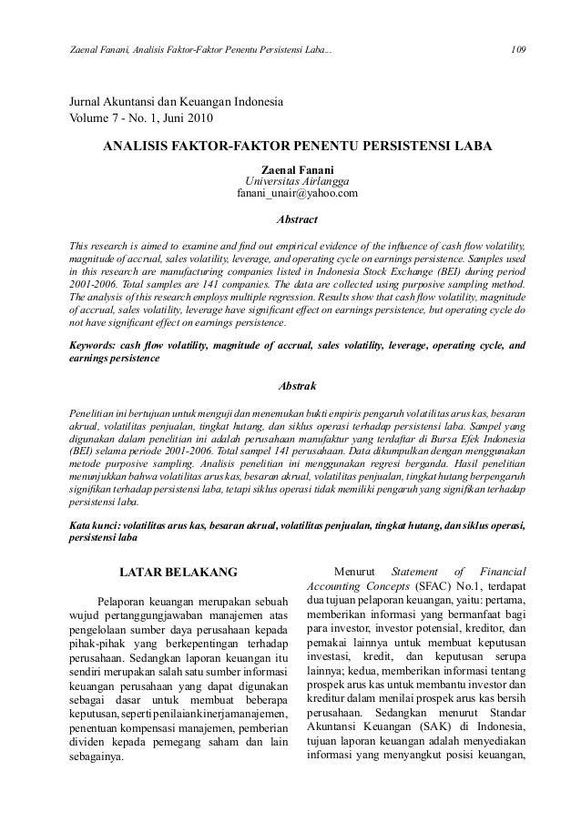 Kritik Jurnal Ilmiah Zainal Fanani