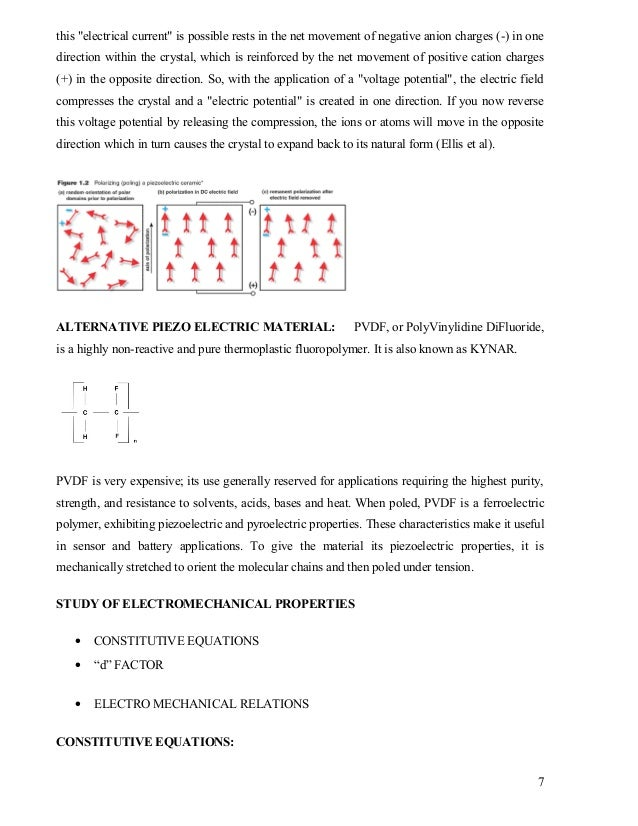 A Study of electromechanical behavior of Piezo ceramic ...