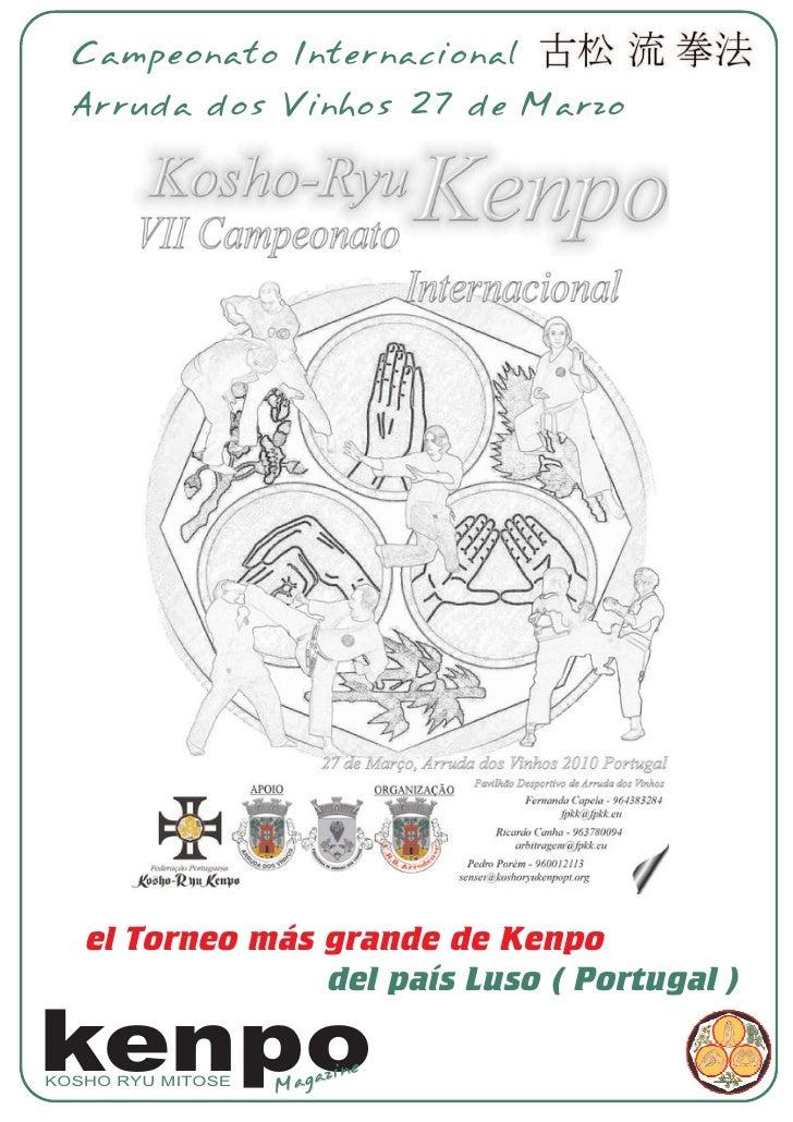 Campeonato Internacional   Arruda dos Vinhos 27 de Marzo        el Torneo más grande de Kenpo                  del país Lu...