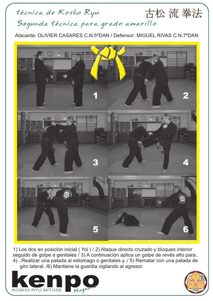 técnica de Kosho Ryu  Segunda técnica para grado amarillo Atacante: OLIVIER CASARES C.N.5ºDAN / Defensor: MIGUEL RIVAS C.N...
