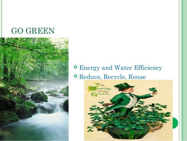 essay on go green save nature