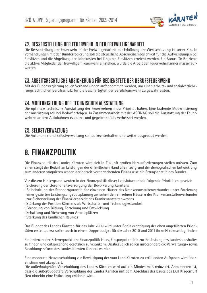BZÖ & ÖVP Regierungsprogramm für Kärnten 2009-2014   9. FORSCHUNG, INNOVATION UND TECHNOLOGIE · Bewusstseinsbildung, das F...