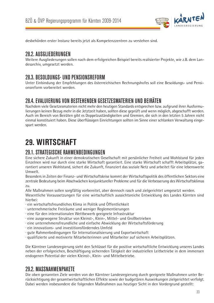 Regierungsprogramm 2009-2014