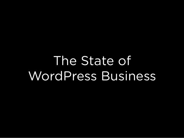 The State of WordPress Business