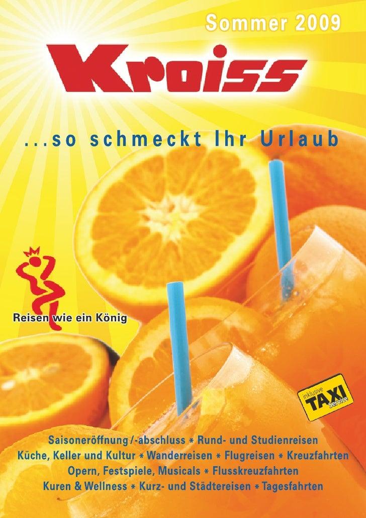 Sommerfahrplan 2009 Kroiss-Busreisen