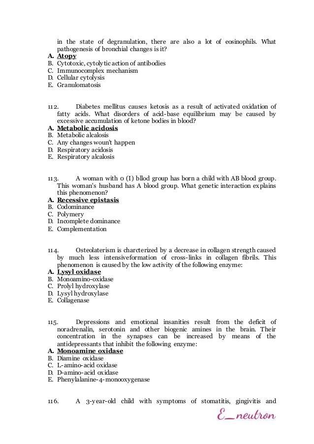 Helt nya Krok 1 - 2014 (Biochemistry) OL-14