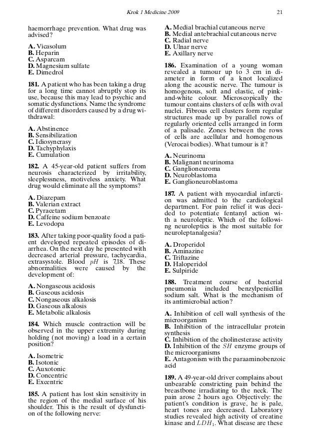 Krok 1 Medicine 2009 21 haemorrhage prevention. What drug was advised? A. Vicasolum B. Heparin C. Asparcam D. Magnesium su...