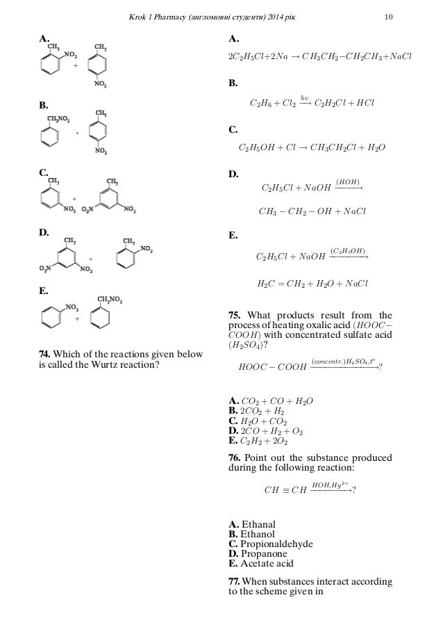 Krok 1 - 2014 Question Paper (Pharmacy)