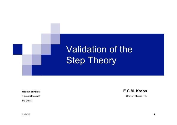 Validation of the                  Step TheoryWitteveen+Bos                   E.C.M. KroonRijkswaterstaat                 ...