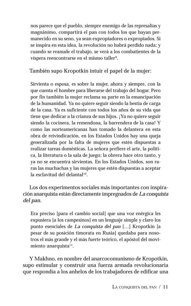 """12 / PIOTR KROPOTKIN sociedad sin explotadores: """"Los makhnovistas somos los mis- mos trabajadores cuya labor enriquece, ce..."""
