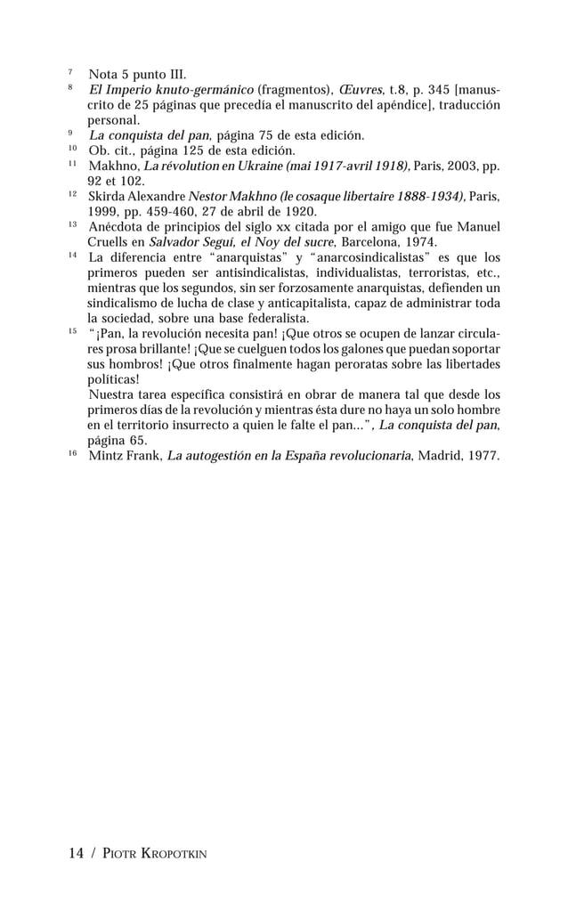 LA CONQUISTA DEL PAN / 15 PRÓLOGO A LA PRIMERA EDICIÓN FRANCESA POR ELISÉE RECLUS Piotr Kropotkin me ha pedido que escriba...