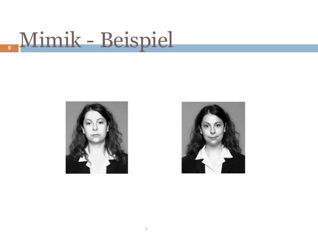 Beispiele körpersprache mimik gestik Die 5