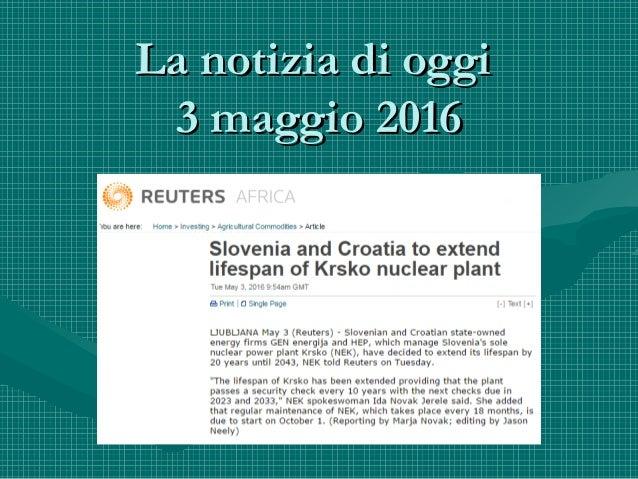 La notizia di oggiLa notizia di oggi 3 maggio 20163 maggio 2016