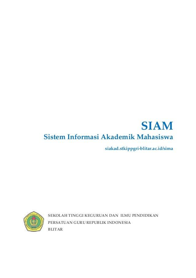 SIAMSistem Informasi Akademik Mahasiswa                       siakad.stkippgri-blitar.ac.id/sima SEKOLAH TINGGI KEGURUAN D...