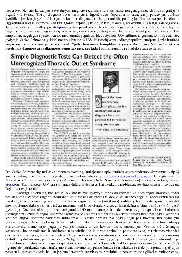 Krūtinės angos sindromas: anatomija, simptomatika, diagnostika ir chirurginis gydymas Slide 3