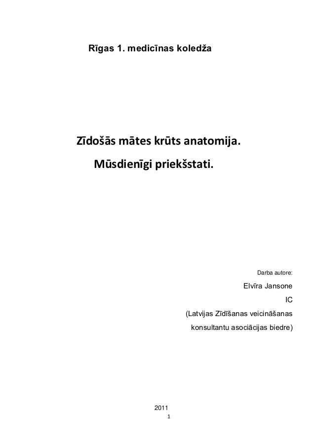 Rīgas 1. medicīnas koledžaZīdošās mātes krūts anatomija.   Mūsdienīgi priekšstati.                                        ...