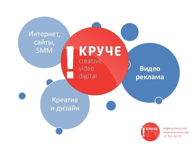 Видео реклама Креатив и дизайн Интернет, cайты, SMM