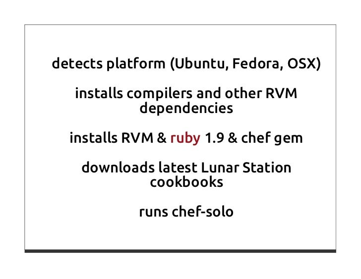 Chef Or How To Make Computers Do The Work For Us