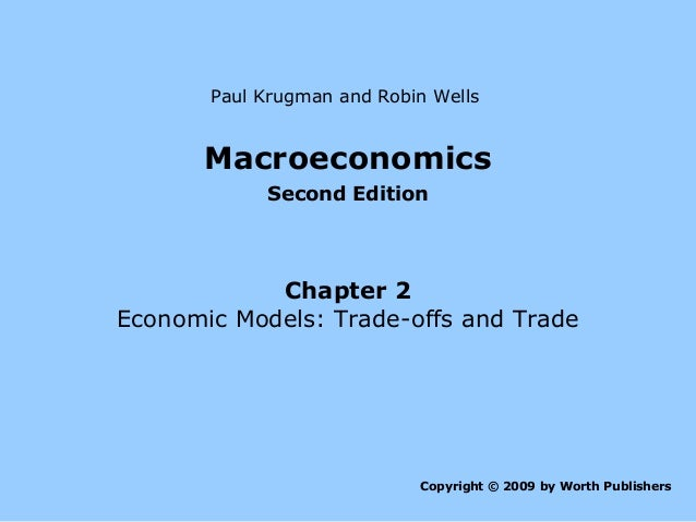 Paul Krugman and Robin Wells  Macroeconomics Second Edition  Chapter 2 Economic Models: Trade-offs and Trade  Copyright © ...