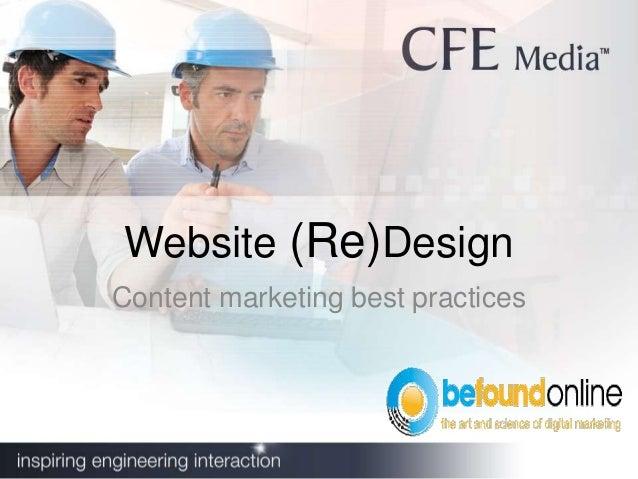Website (Re)DesignContent marketing best practices