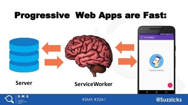 #SMX #22A1 @Suzzicks Progressive Web Apps are Fast: Server ServiceWorker