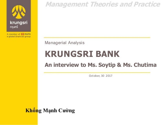Krungsri Bank: A Management Analysis