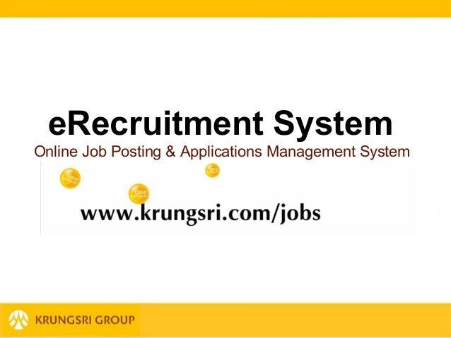 eRecruitment System Online Job Posting & Applications Management System