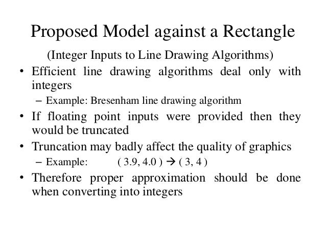 Line Drawing Algorithm In Computer Graphics With Example : An efficient model for line clipping operation