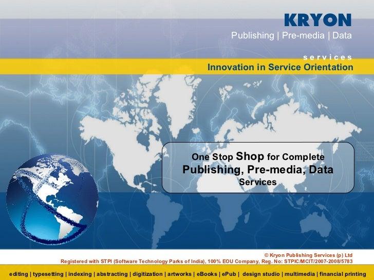 KRYON                                                                                     Publishing | Pre-media | Data   ...