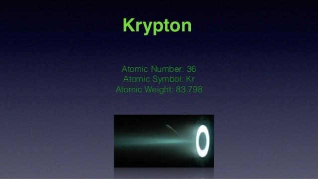 Krypton science project