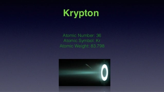 Krypton Science Project