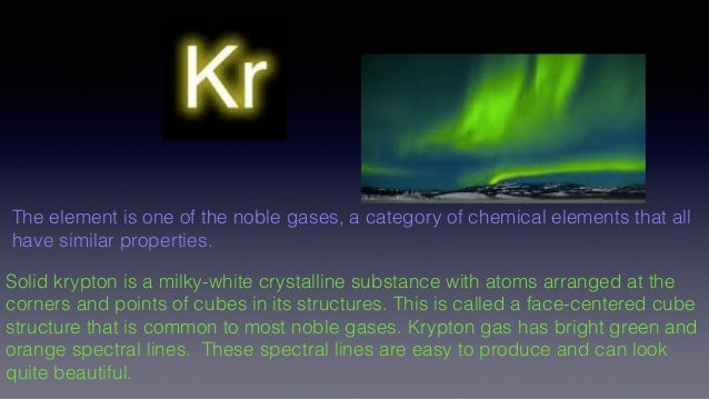 Kr Chemical Properties