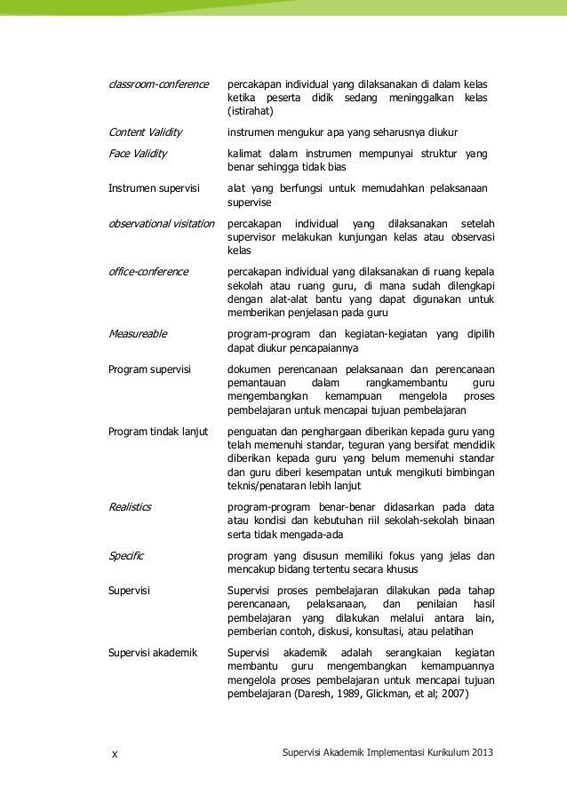 x Supervisi Akademik Implementasi Kurikulum 2013 classroom-conference percakapan individual yang dilaksanakan di dalam kel...