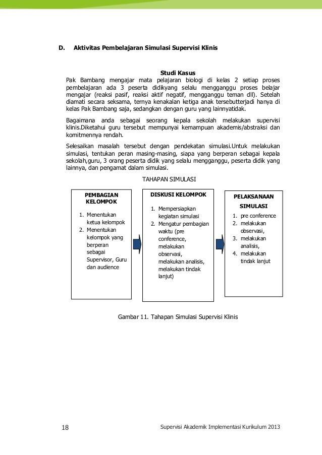 18 Supervisi Akademik Implementasi Kurikulum 2013 D. Aktivitas Pembelajaran Simulasi Supervisi Klinis Studi Kasus Pak Bamb...
