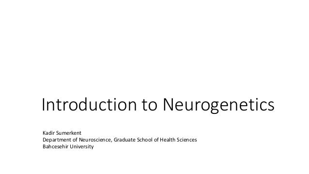 Introduction to genetics for Neuroscience