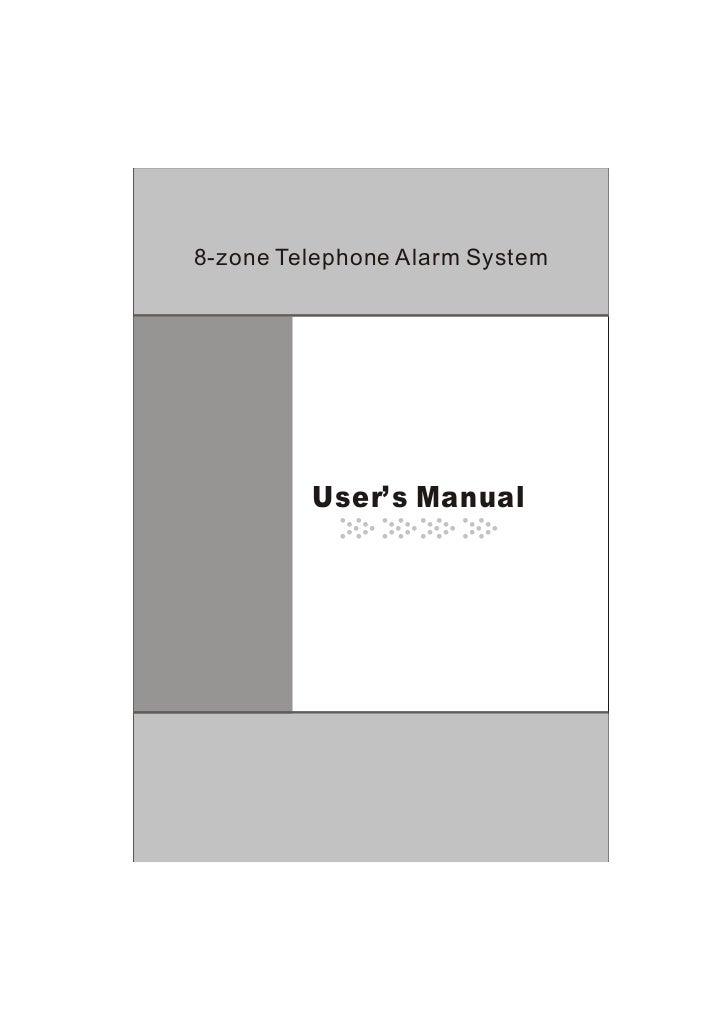 Ks 258 8zone wireless alarms user's manual