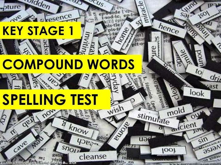 KS1 Compound Words Spelling Test