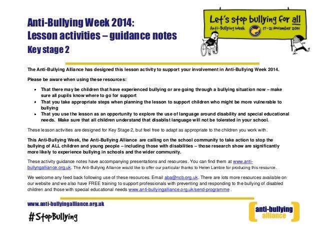 Anti bullying week for children