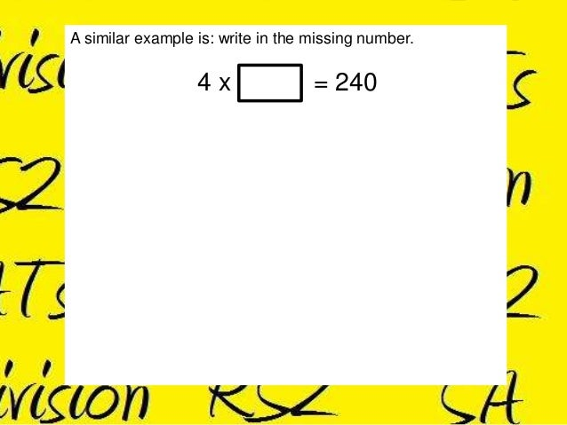 How To Do KS2 Maths SATs Paper A Division Questions (Part 1)