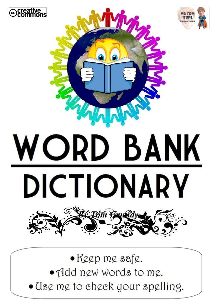 Tom's TEFL - 60-pg P3-P6 KS2 Word Bank Dictionary