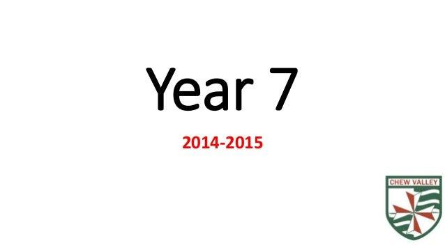 Year 7  2014-2015