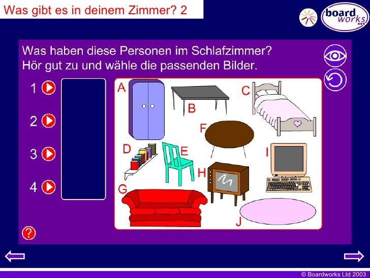 Was gibt es in deinem Zimmer? 2