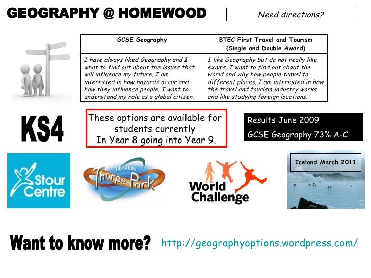 GEOGRAPHY @ HOMEWOOD Need directions? Want to know more? http://geographyoptions.wordpress.com/   Results June 2009 GCSE G...