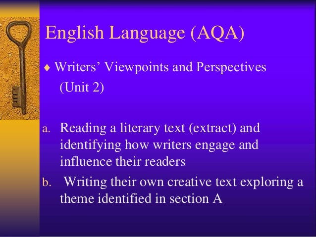 Aqa unit 3b creative writing